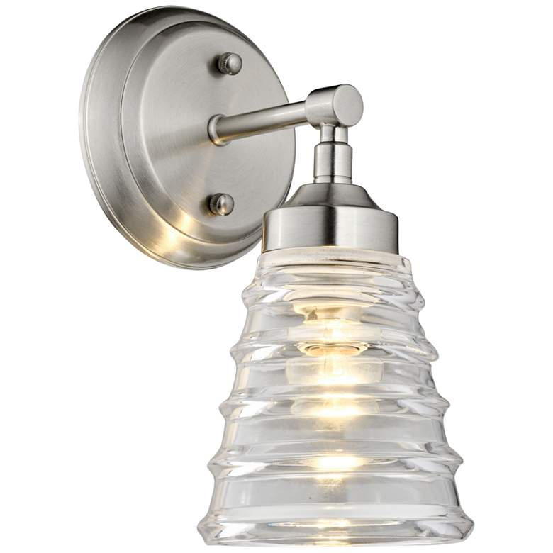 """Varaluz Amherst 11"""" High Brushed Nickel Wall Sconce"""