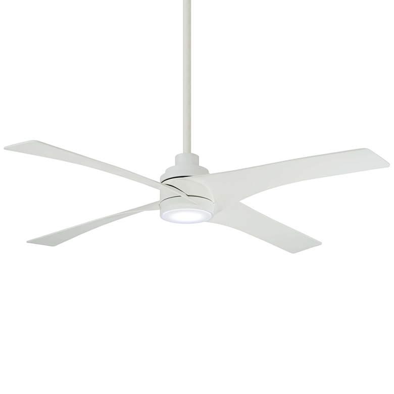 "56"" Minka Aire Swept Flat White LED Ceiling Fan"