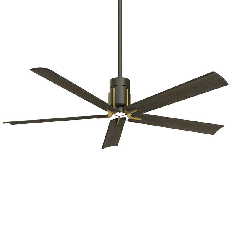 "60"" Minka Aire Clean Oil Rubbed Bronze LED Ceiling Fan"