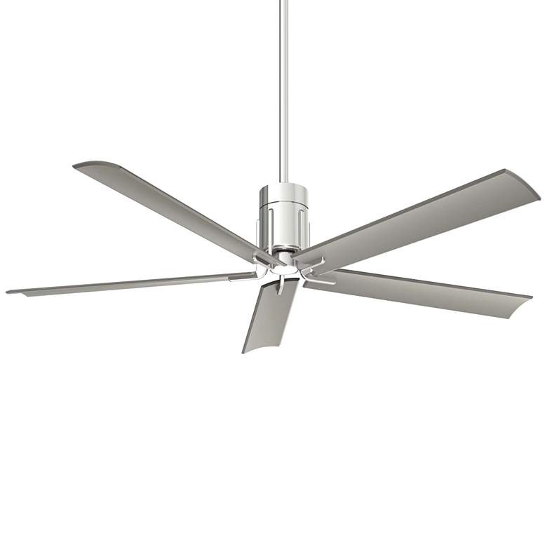 """60"""" Minka Aire Clean Polished Nickel LED Ceiling Fan"""