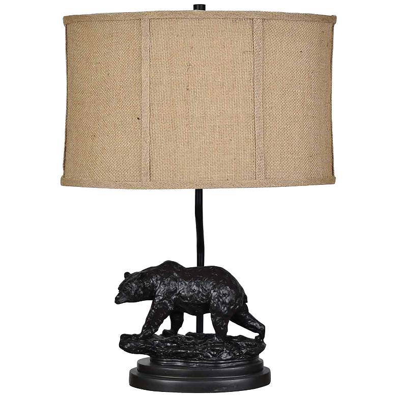 Crestview Collection Bear Trail Bronze Accent Table Lamp