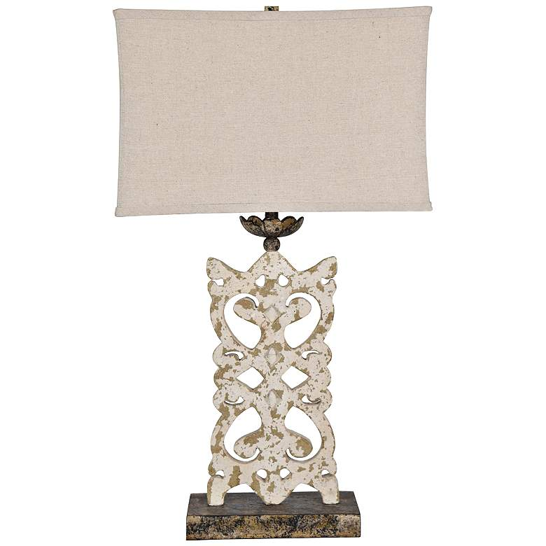 Mariposa Antique White and Bronze Table Lamp