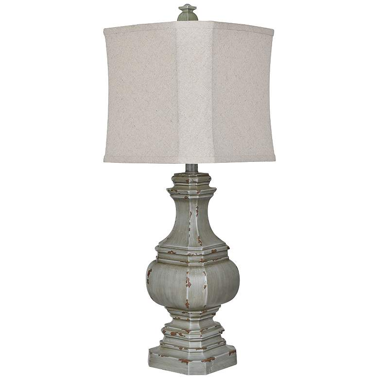 Crestview Collection Daryl I Antique Blue-Green Table Lamp