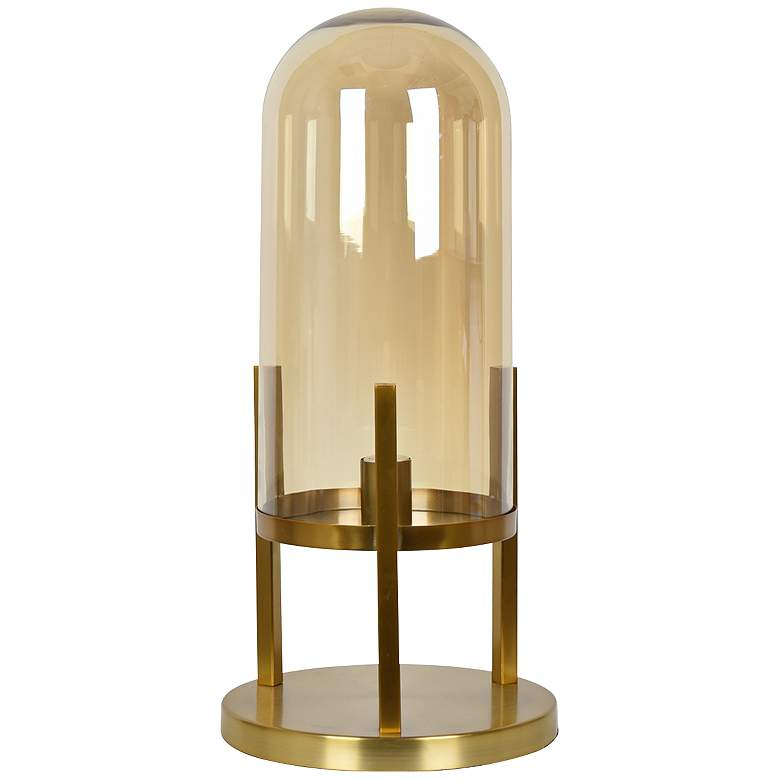 Malouf Dome Large Soft Brass Uplight Accent Table