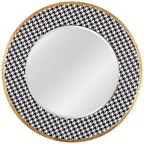 "Varaluz Casa Azzezzi Gold Dust 30"" Round Wall Mirror"