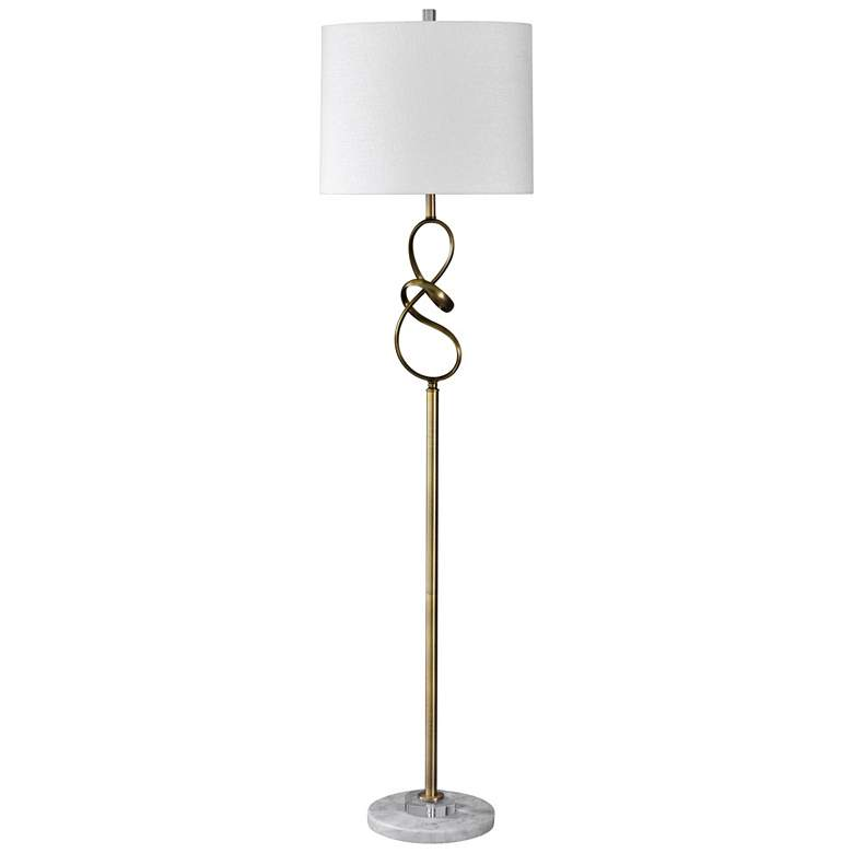 Uttermost Mondovi Bronze And Gold Tripod Floor Lamp 5g171 Lamps Plus