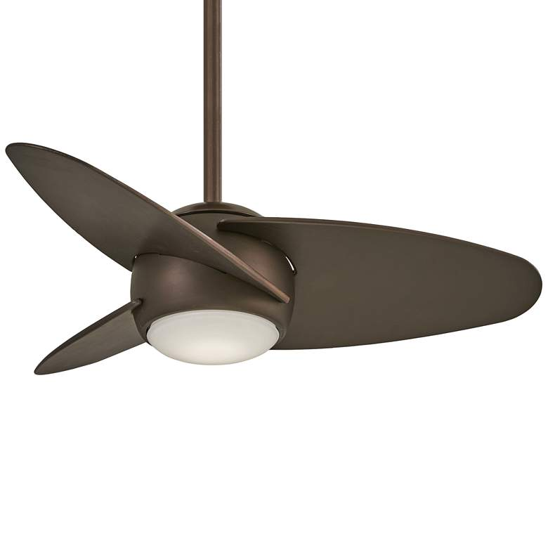 "36"" Minka Aire Slant Oil Rubbed Bronze LED Ceiling Fan"