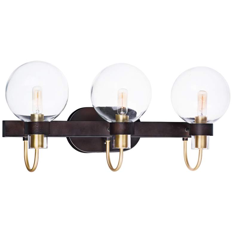 "Bauhaus 23"" Wide Bronze 3-Light Bath Light"