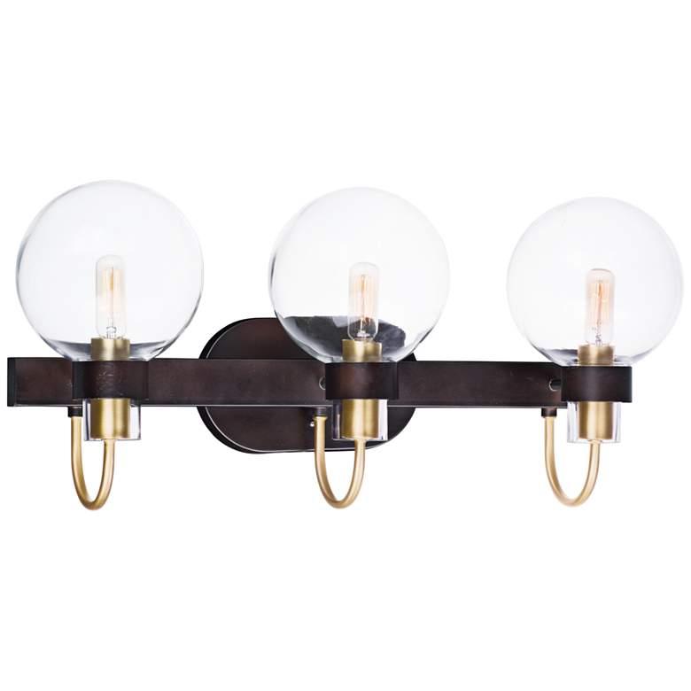 """Bauhaus 23"""" Wide Bronze 3-Light Bath Light"""