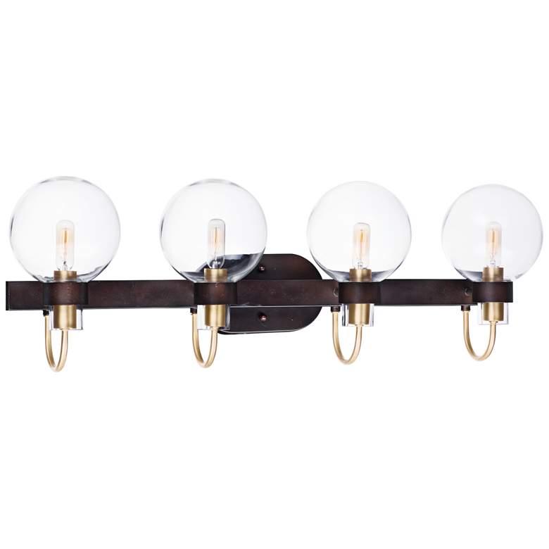 """Bauhaus 33"""" Wide Bronze 4-Light Bath Light"""