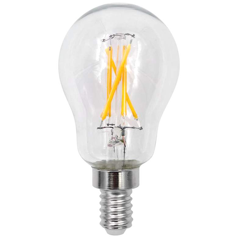 40 Watt Equivalent Clear 4.5W LED Dimmable E12 Base Bulb