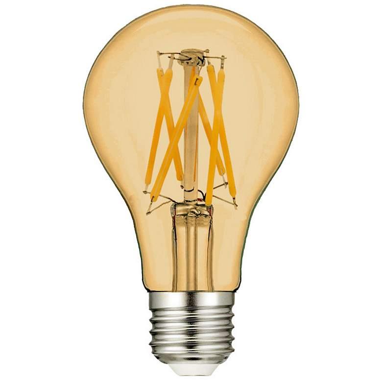 60W Equivalent Amber 7W LED Filament A19 Standard