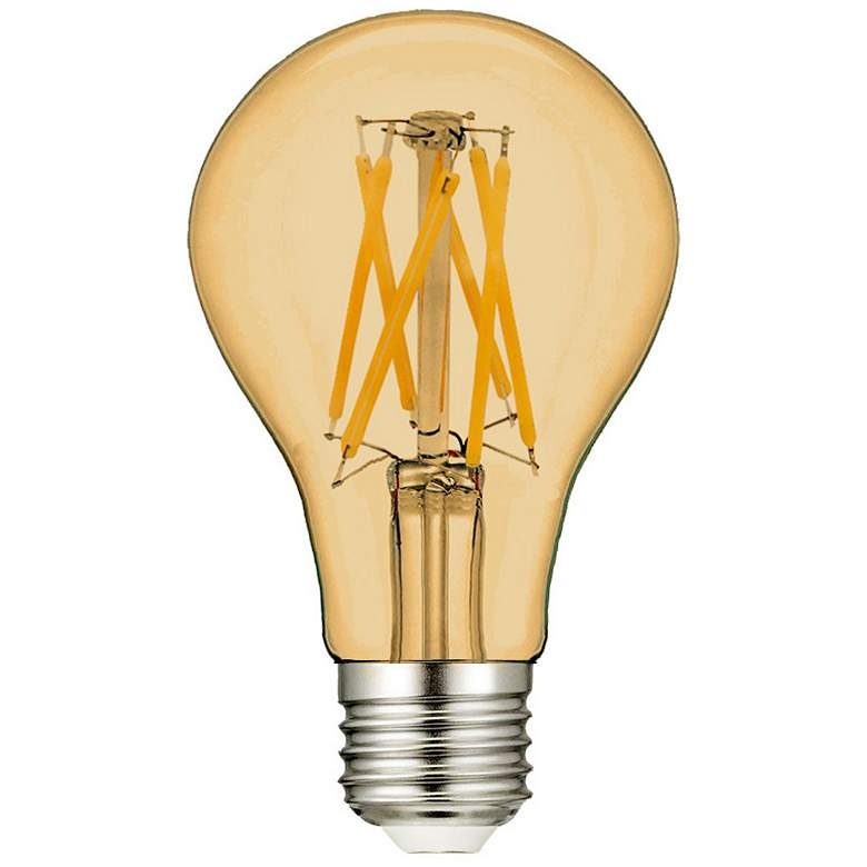 60W Equivalent Amber 7W LED Filament A19 Standard 90CRI