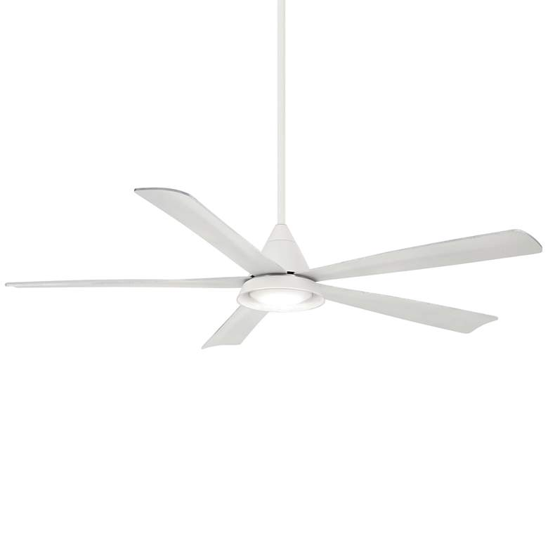 "54"" Minka Aire Cone White Wet LED Ceiling Fan"