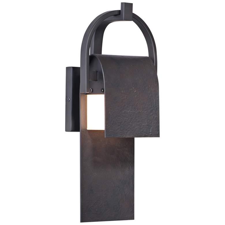 "Maxim Laredo 14 1/2""H Rustic Forge LED Outdoor Wall Light"