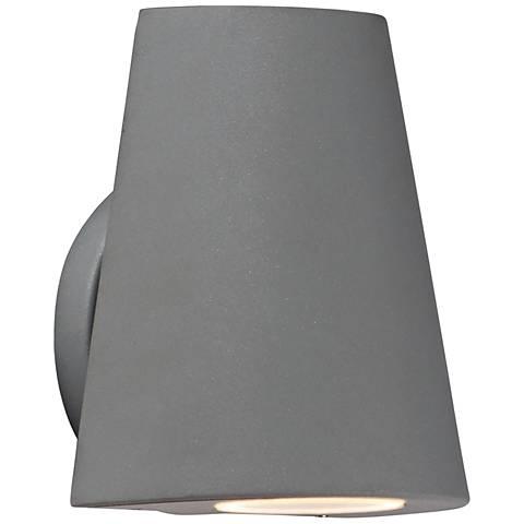 "Maxim Mini 6 1/4"" High Silver LED Outdoor Wall Light"