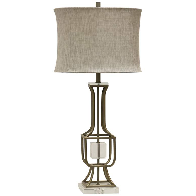 Calais Painted Brushed Nickel Table Lamp
