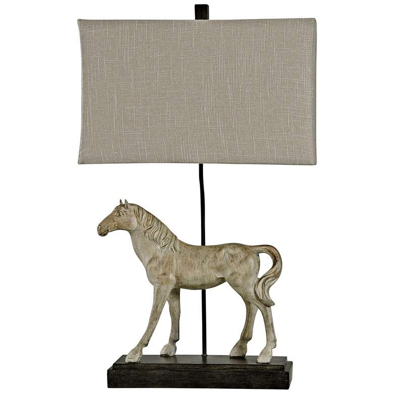 Dapple Gray Horse Figurine Table Lamp