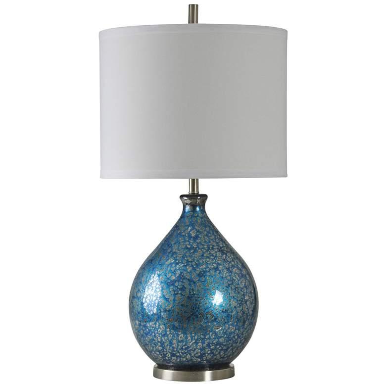 Memphis Blue Mercury Glass Table Lamp
