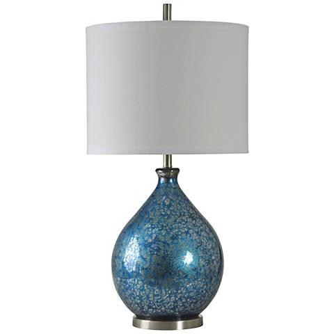 Memphis Blue Mercury Glass Table Lamp 60w46 Lamps Plus
