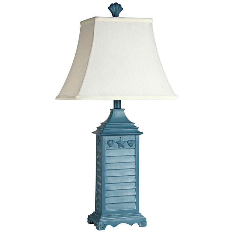 "Seaside Ocean Blue 15"" High Accent Table Lamp"
