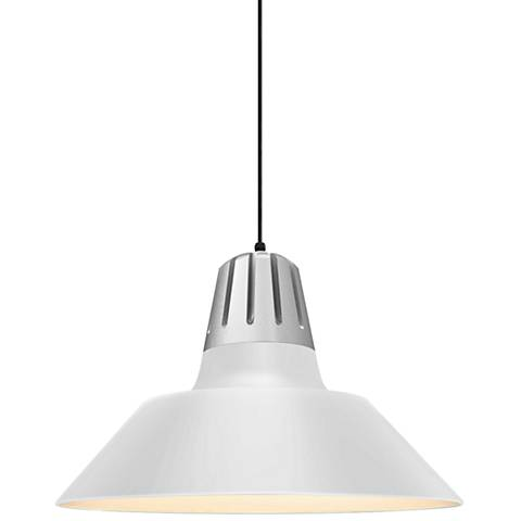 """RLM Heavy Metal 13"""" High Gloss White Outdoor Hanging Light"""