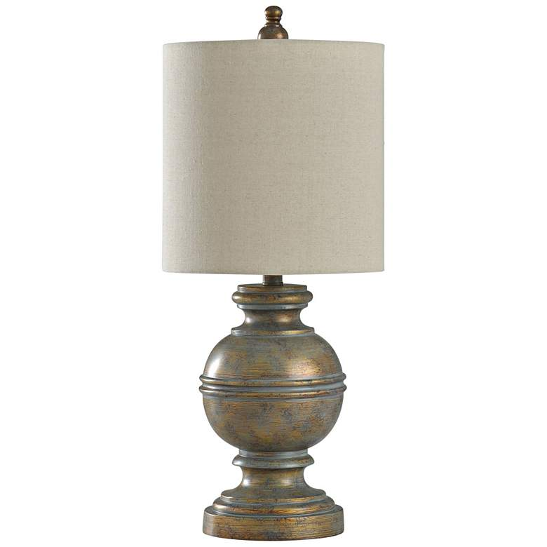 Girona Antique Bronze Table Lamp with White Shade