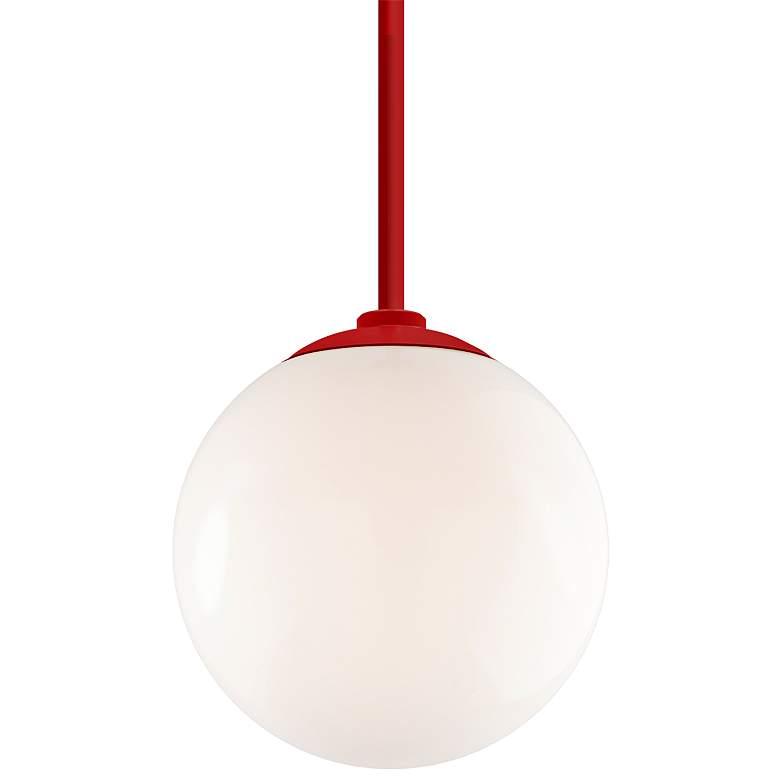 "RLM Globe 12"" High Red Aluminum Outdoor Hanging Light"