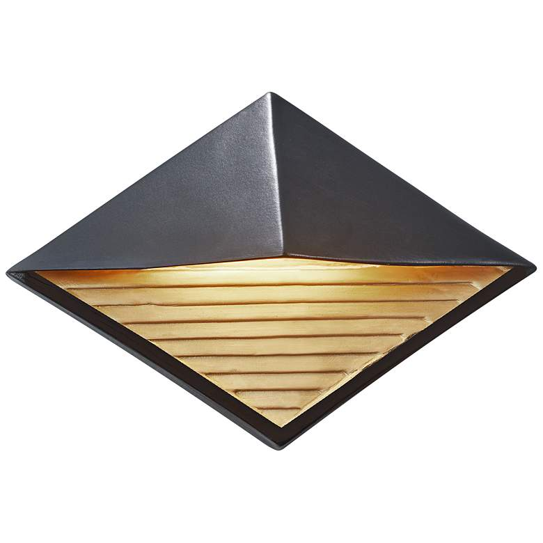 """Ambiance Collection™ 8"""" High Black LED Outdoor Wall Light"""