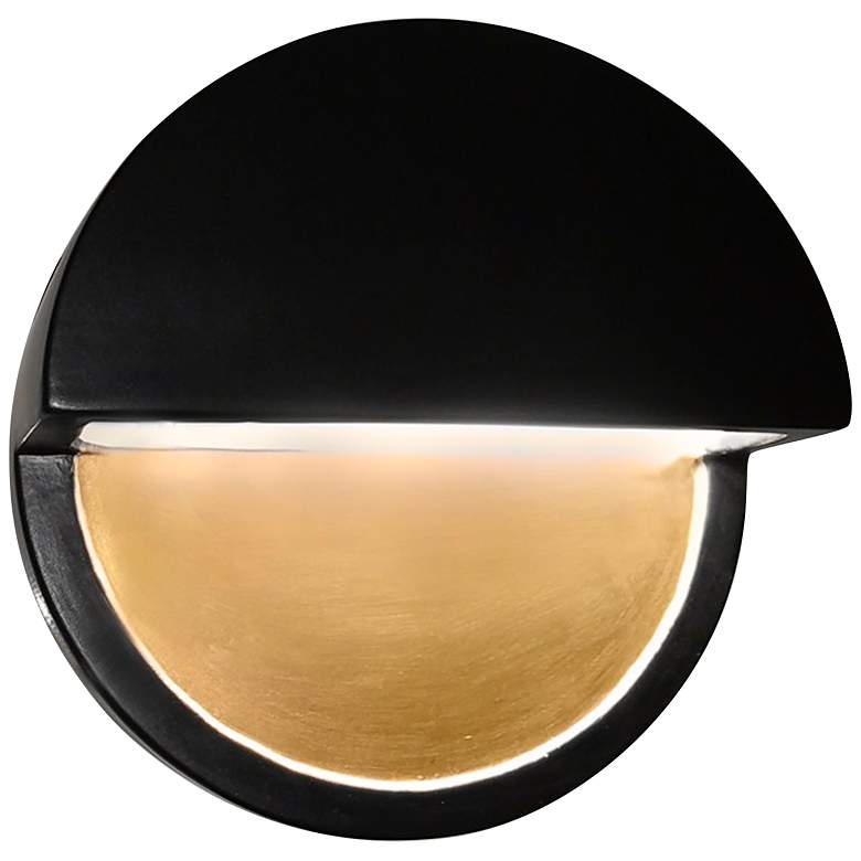 "Ambiance Collection™ 8""H Black Dome LED Outdoor Wall"