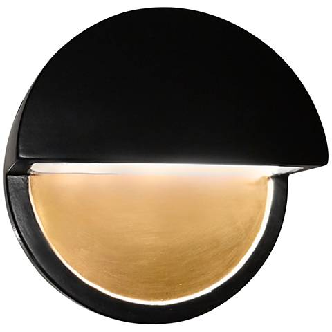 """Ambiance Collection™ 8""""H Black Dome LED Outdoor Wall Light"""