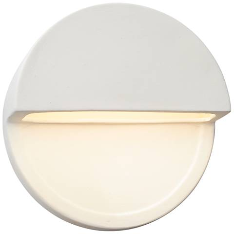 """Ambiance Collection™ 8""""H Bisque Dome LED Outdoor Wall Light"""