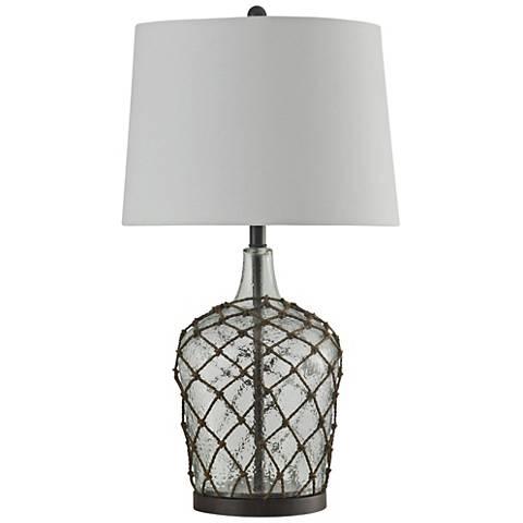 Jonathan Adler Capri Short White Glass Table Lamp J1778