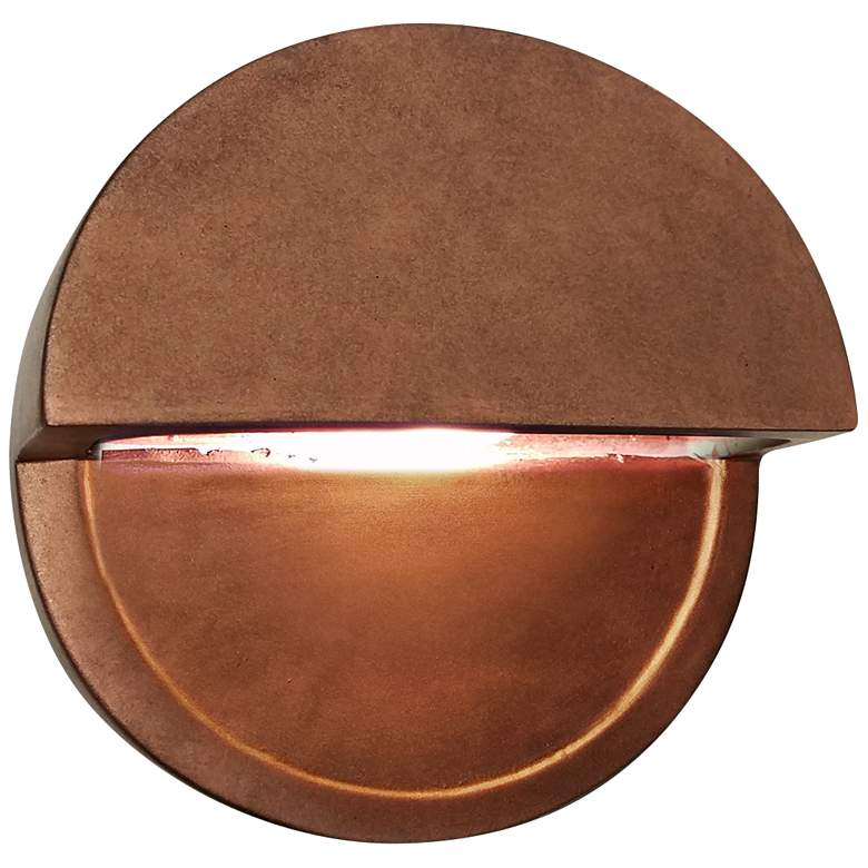 "Ambiance Collection™ 8""H Copper Dome LED Outdoor Wall"