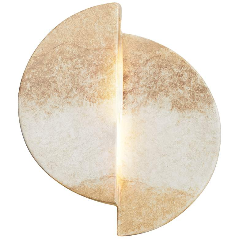 "Ambiance Collection 9""H Greco Travertine LED Wall Sconce"