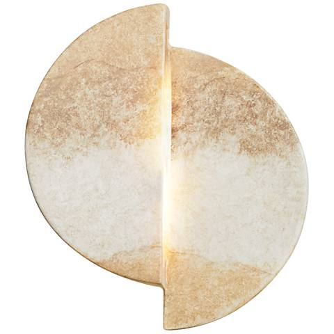 """Ambiance Collection 9""""H Greco Travertine LED Wall Sconce"""