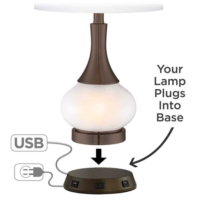 Universal Charging USB-Outlet Workstation Bronze Lamp Base