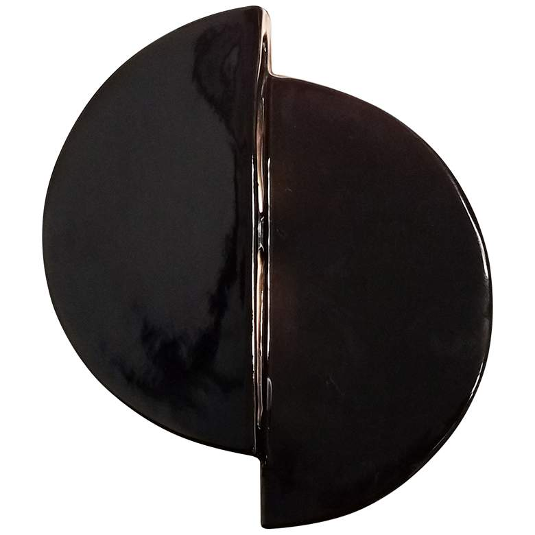 "Ambiance Collection 9"" High Gloss Black LED Wall Sconce"