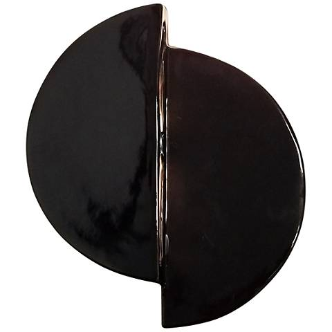 """Ambiance Collection 9"""" High Gloss Black LED Wall Sconce"""