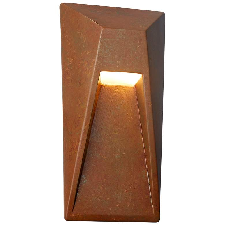 """Ambiance Collection 16"""" High Rust Patina LED Outdoor Wall Light"""