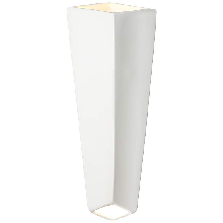 """Ambiance Collection 17"""" High Gloss White LED Wall Sconce"""