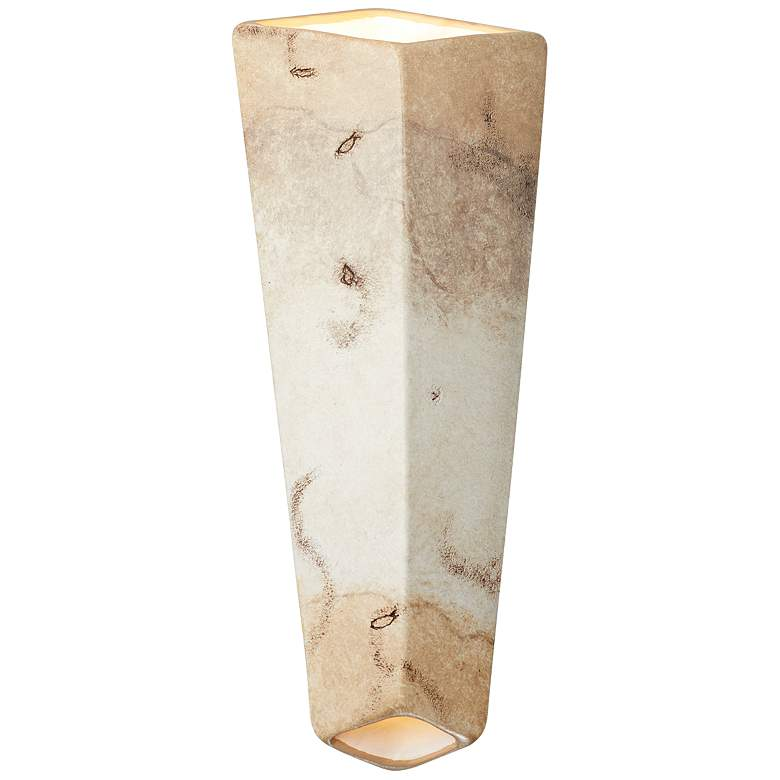 "Ambiance Collection 17""H Greco Travertine LED Wall Sconce"