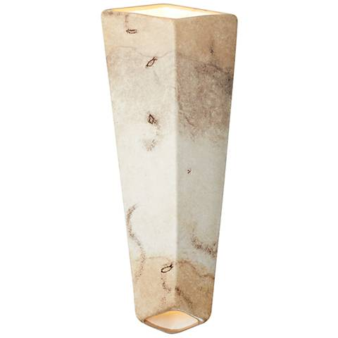 """Ambiance Collection™ 17""""H Greco Travertine LED Wall Sconce"""