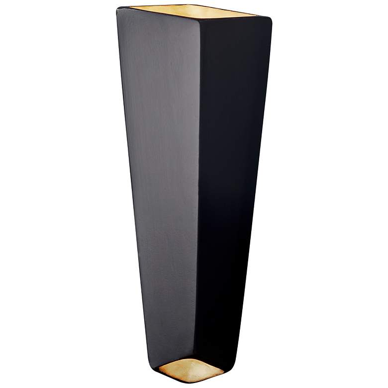 "Ambiance 17"" High Carbon Matte Black LED Wall Sconce"