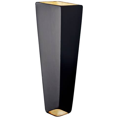 """Ambiance 17"""" High Carbon Matte Black LED Wall Sconce"""