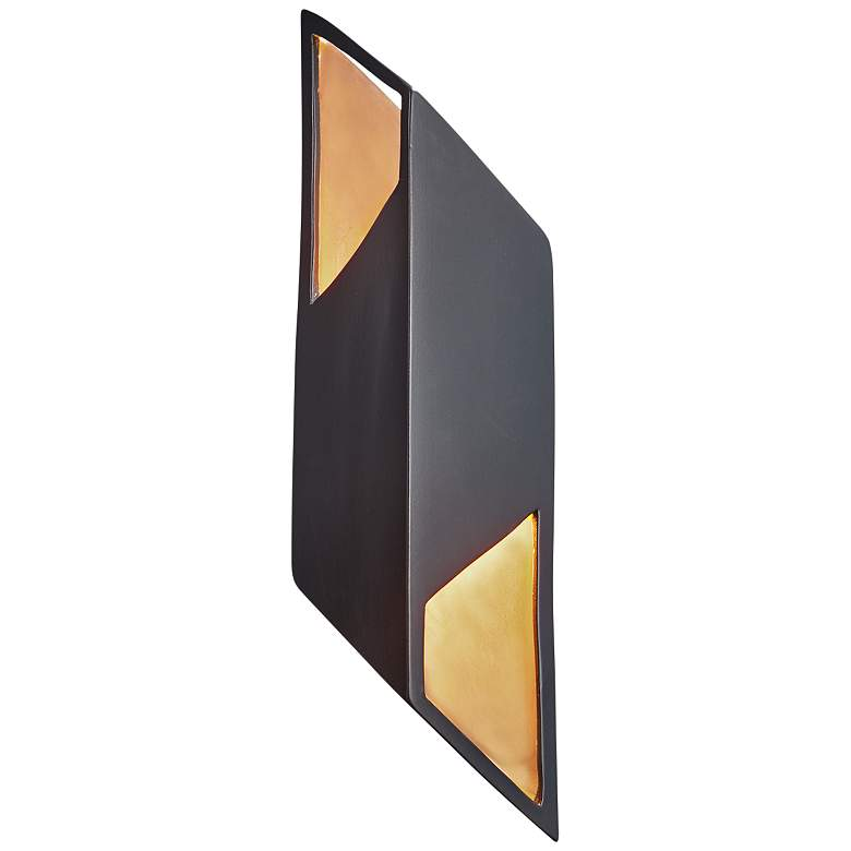 """Ambiance Collection 17 1/2""""H Matte Black LED Wall Sconce"""