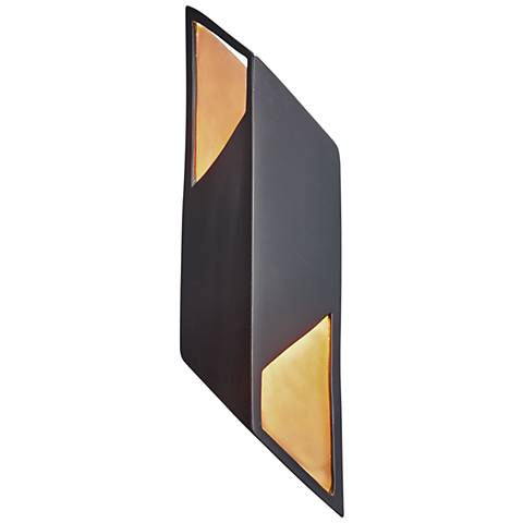 "Ambiance Collection 17 1/2""H Matte Black LED Wall Sconce"