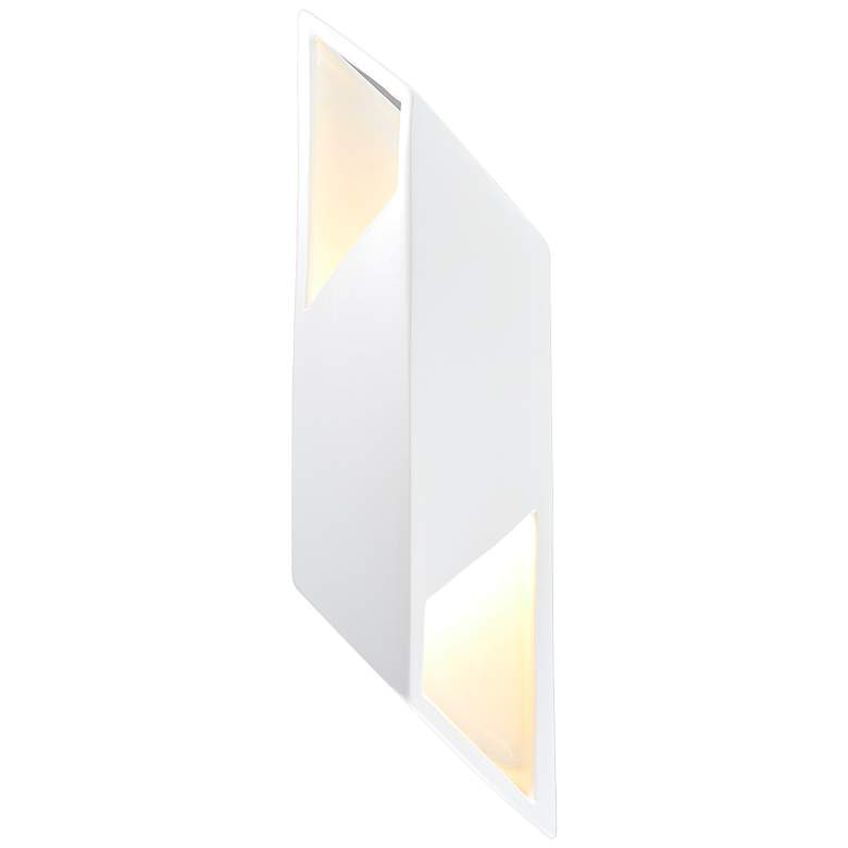 """Ambiance Collection 17 1/2""""H Gloss White LED Wall"""