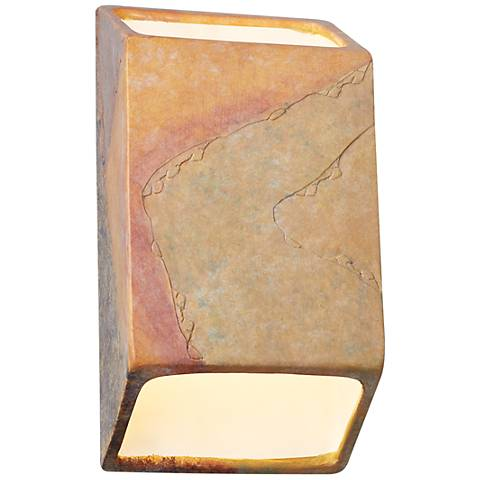 "Ambiance 9 1/2"" High Harvest Yellow Slate LED Sconce"