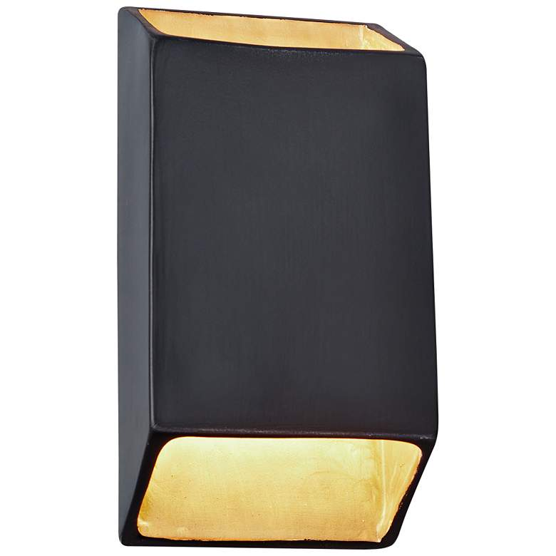 """Ambiance 14"""" High Carbon Matte Black LED Wall Sconce"""